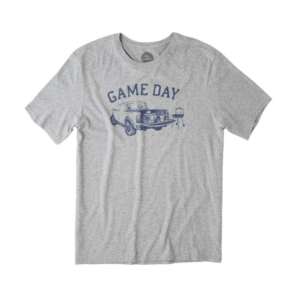 Life is Good Men's Game Day Football Smooth Tee HEATHERGRAY