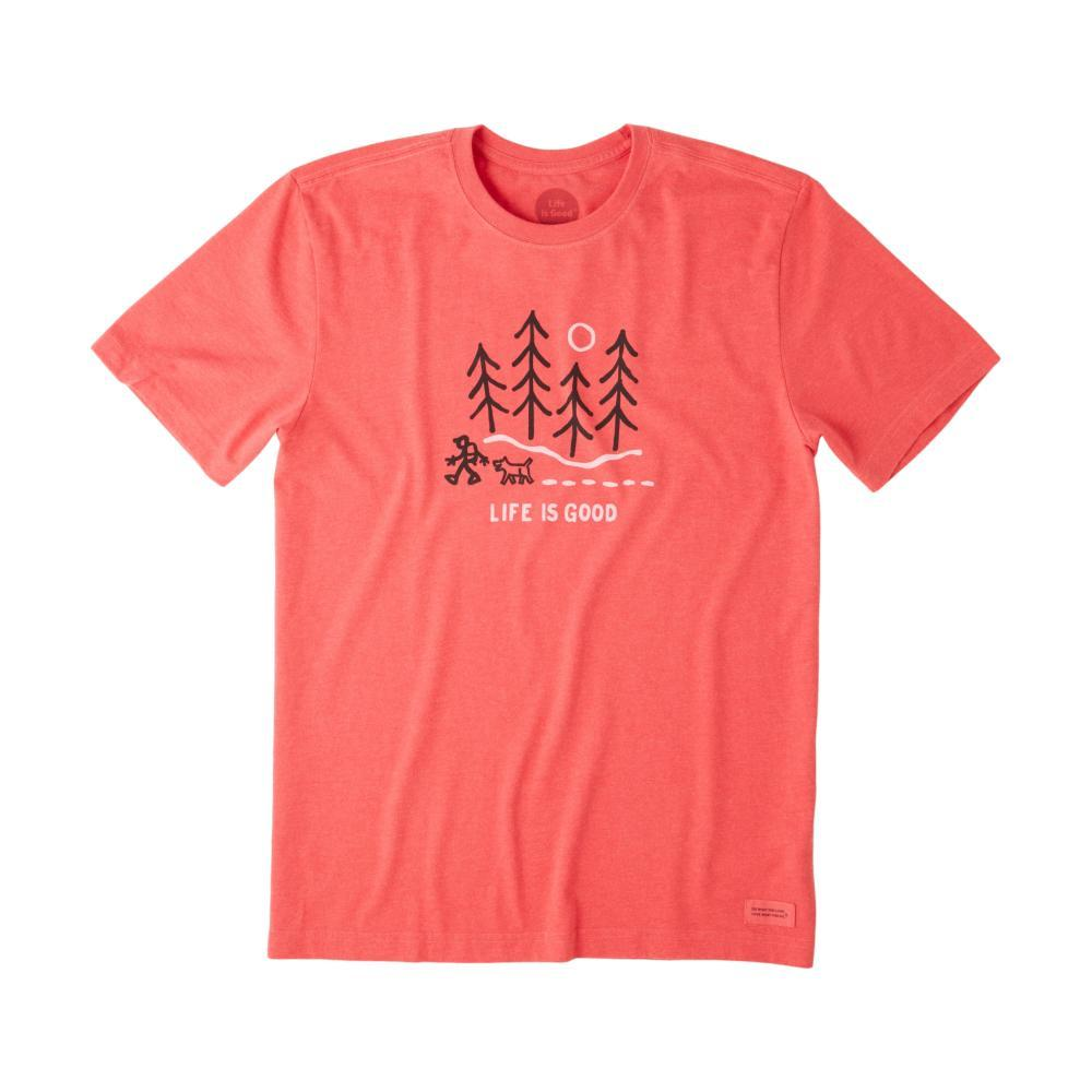 Life is Good Men's Winter Wanderland Crusher Tee AMERICANRED