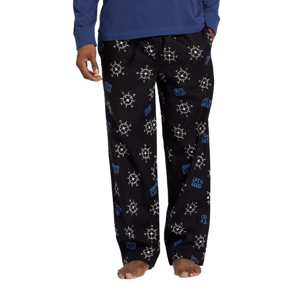 Life is Good Men's LIG Compass Toss Classic Sleep Pants NIGHTBLACK