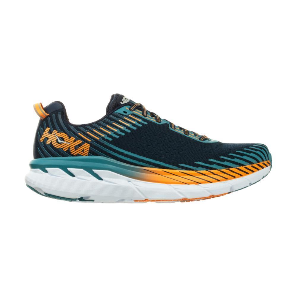 HOKA ONE ONE Men's Clifton 5 Running Shoes BLKIRIS.SBLU_BISB