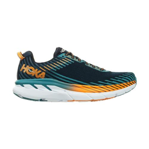HOKA ONE ONE Men's Clifton 5 Running Shoes Blkiris.Sblu_bisb
