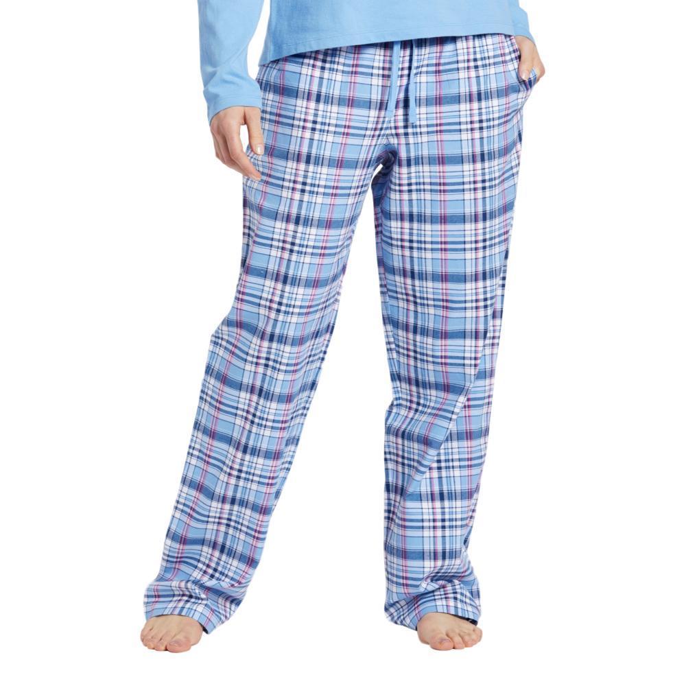Life is Good Women's Sleepy Powder Plaid Classic Sleep Pants POWBLUE