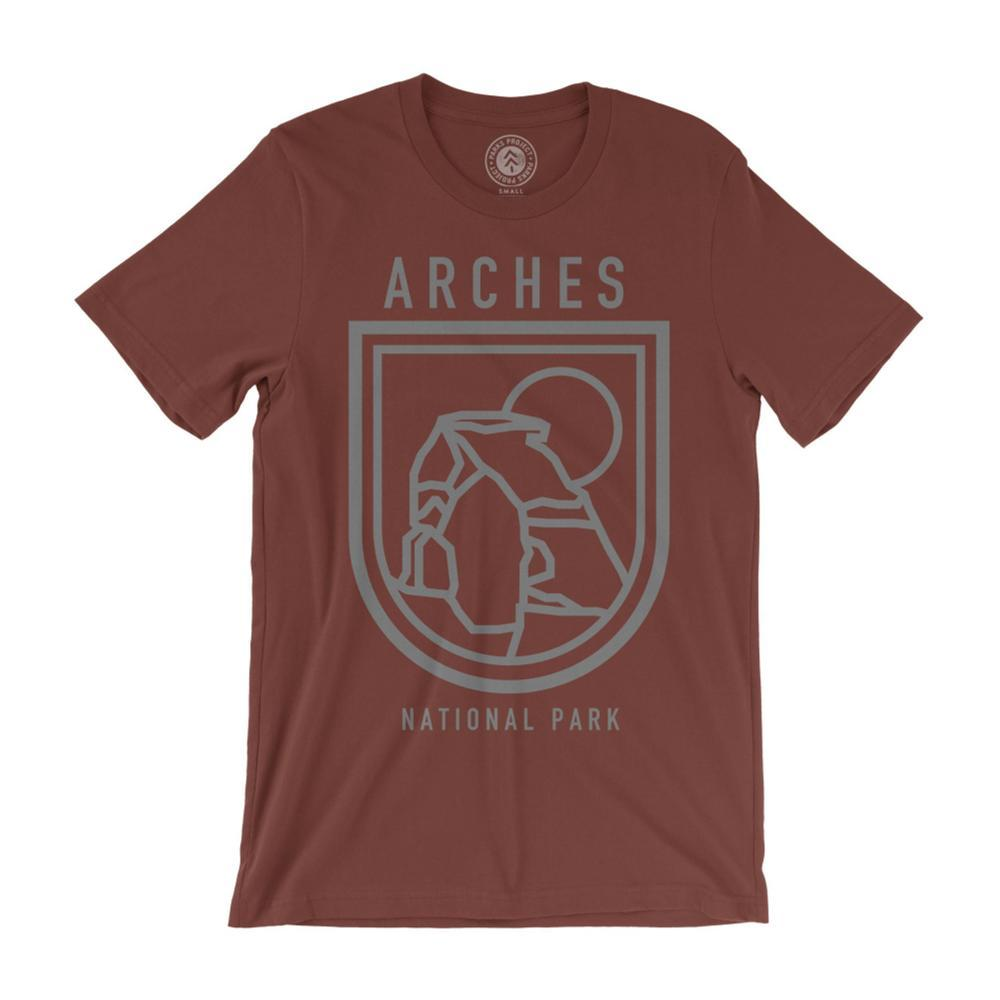 Parks Project Unisex Arches Outlines Tee RUST