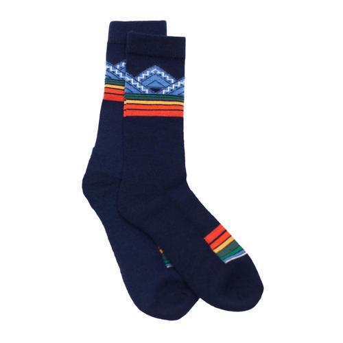 Pendleton Unisex National Park Merino Jacquard Crew Socks Blue