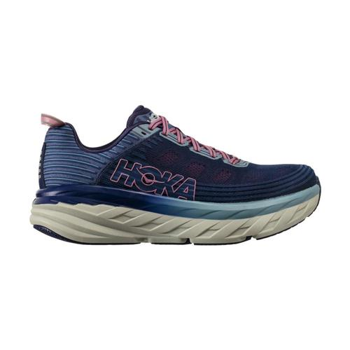 HOKA ONE ONE Women's Bondi 6 Wide Running Shoes Marlin/Blue