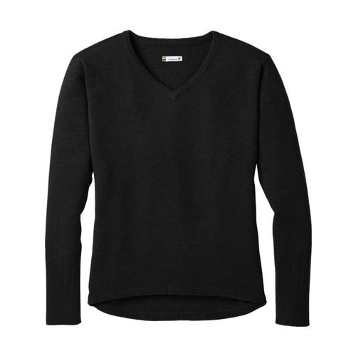Smartwool Women's Shadow Pine V-Neck Sweater Black