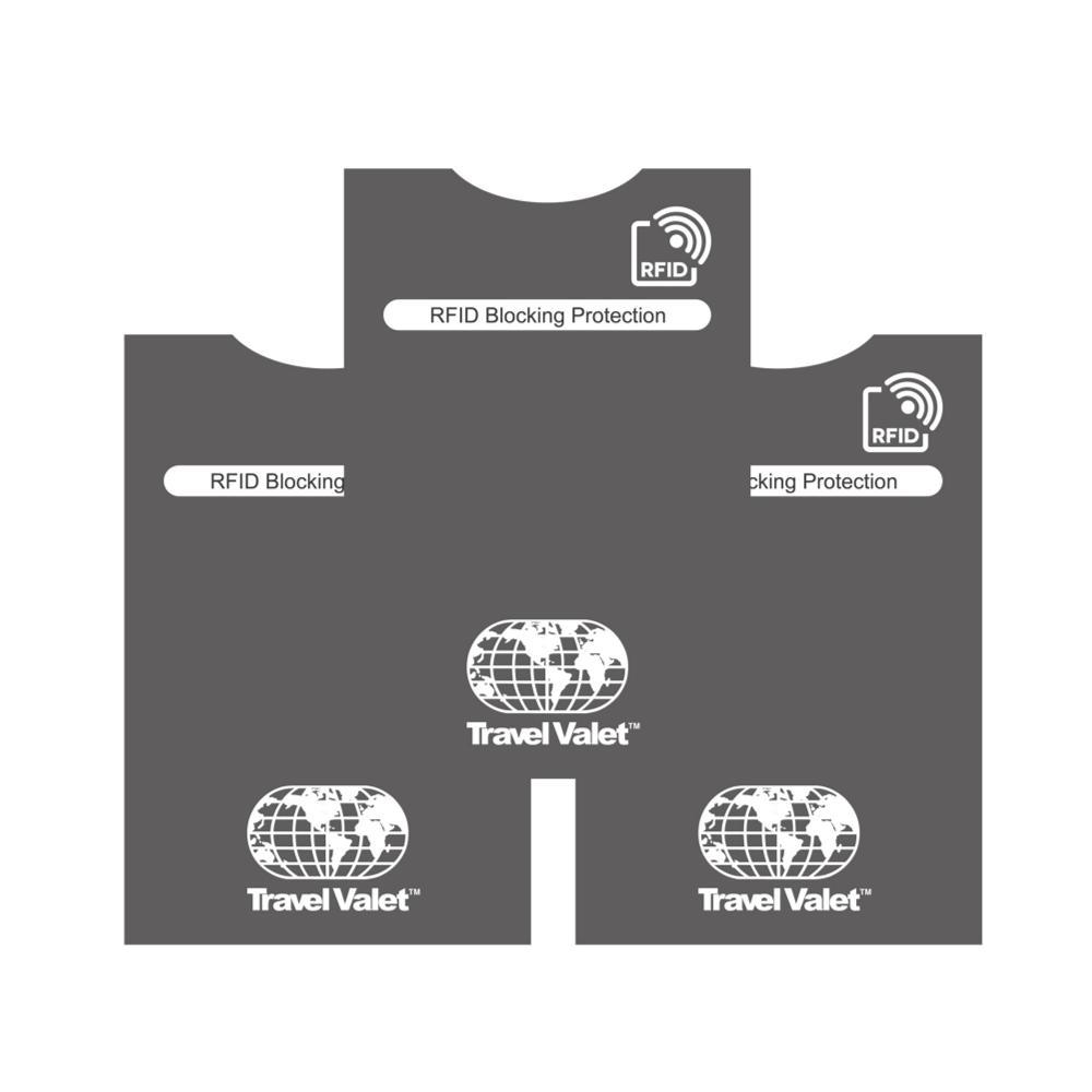 Travel Valet Rfid Card Sleeve 3 Pack