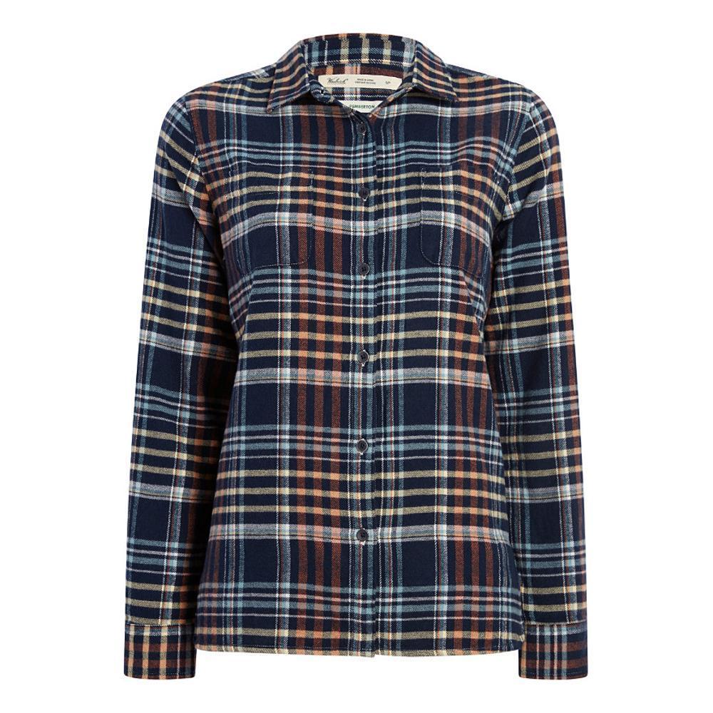 Woolrich Women's Pemberton Flannel Shirt NAVYPLAID