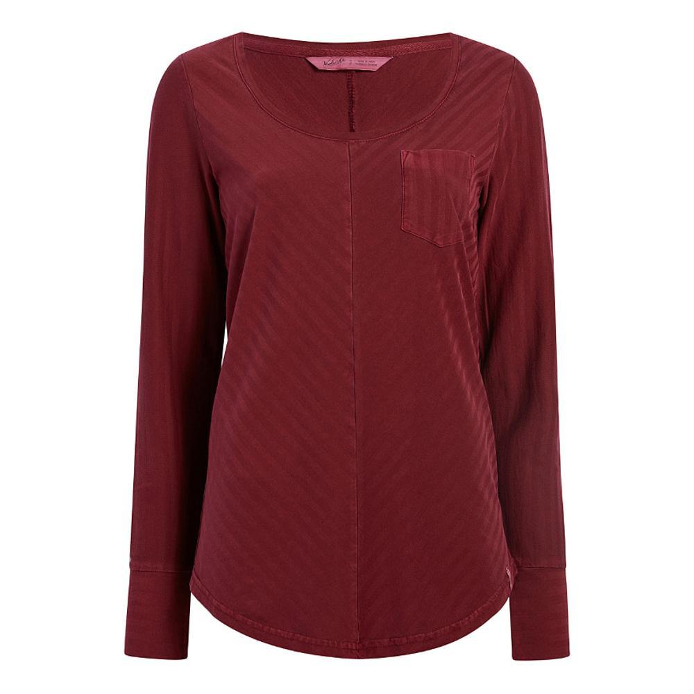 Woolrich Women's Meadow Forks Long Sleeve T-Shirt TAMARIND