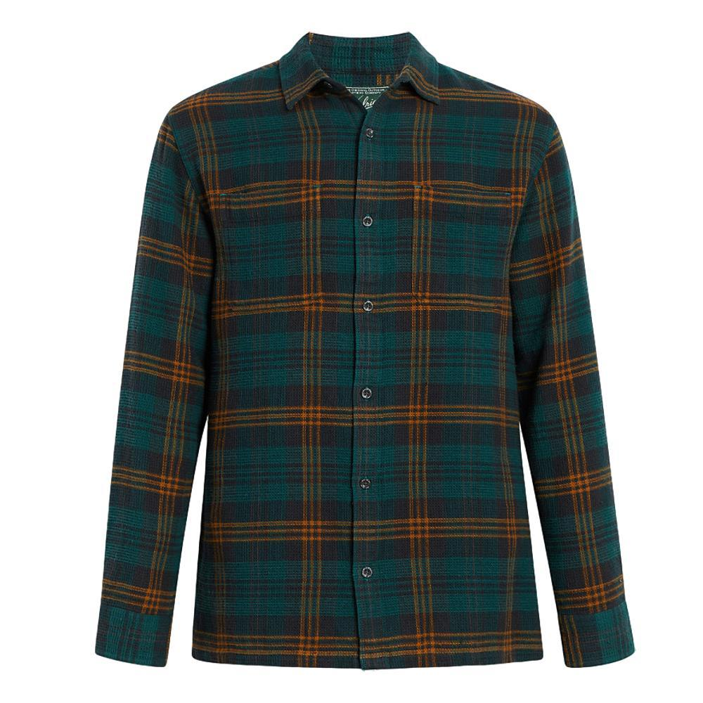 Woolrich Men's Eco Rich Dellaro Waffle Shirt ENAMELPINE
