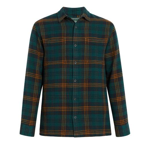 Woolrich Men's Eco Rich Dellaro Waffle Shirt Enamelpine