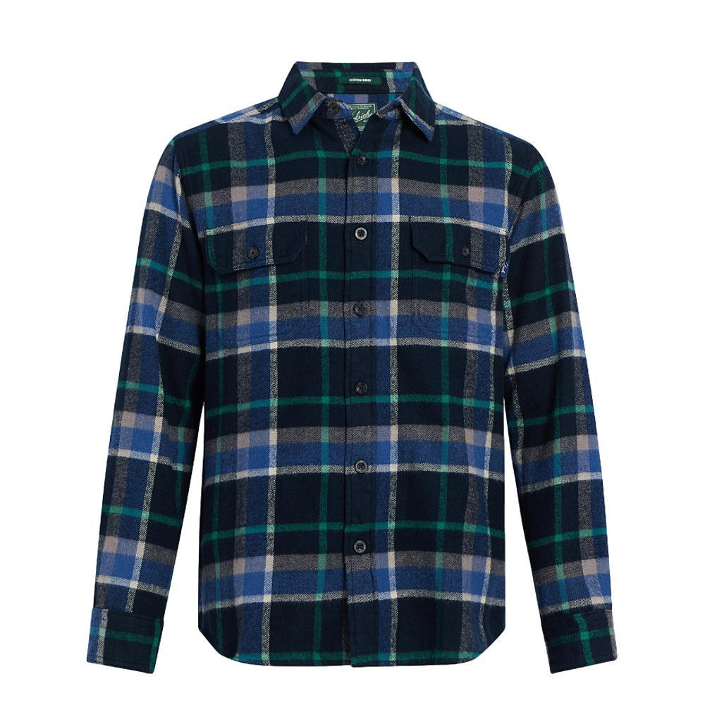 Woolrich Men's Oxbow Bend Plaid Flannel Shirt DPALPINEBLUE