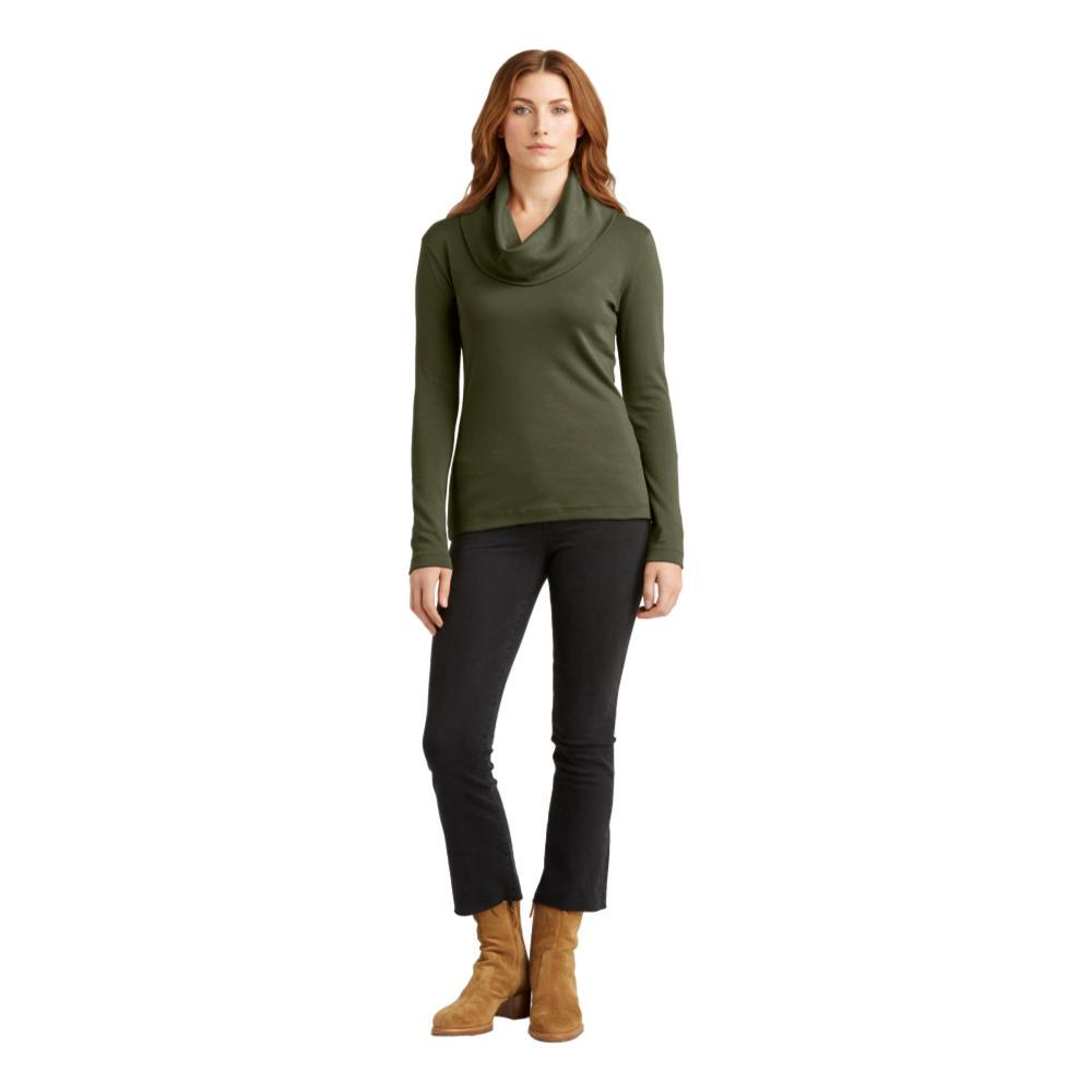 Indigenous Designs Women's Cowl Neck Pullover FOREST
