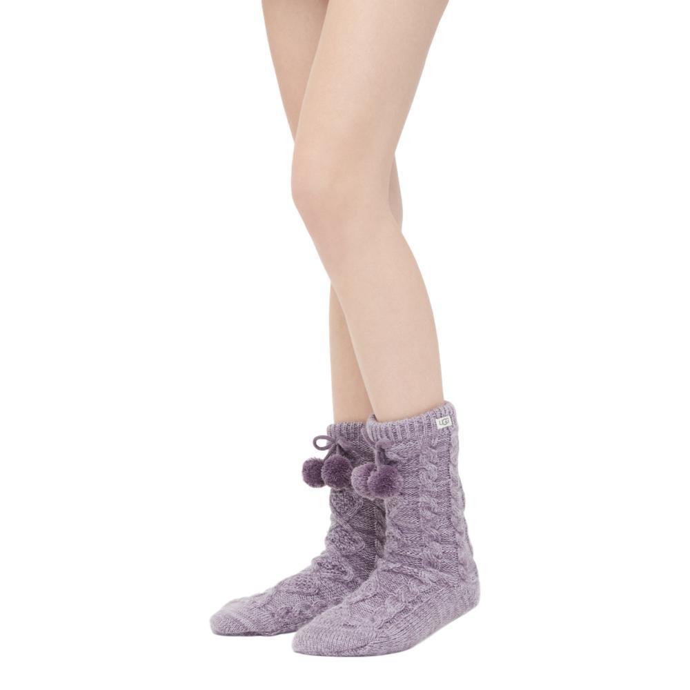 UGG Women's Pom Pom Fleece Lined Crew Socks LAVEN_LRAR
