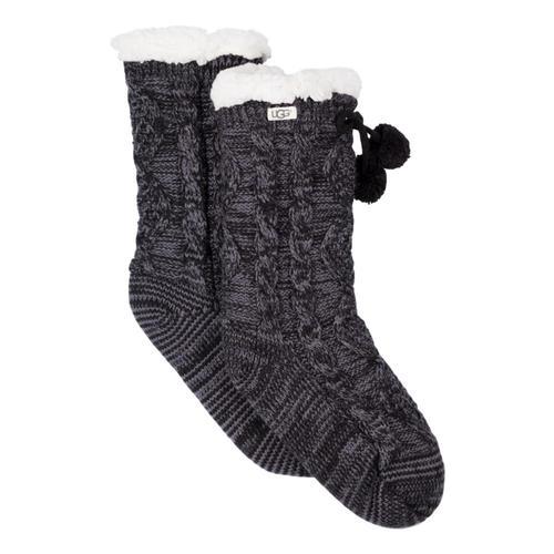 UGG Women's Pom Pom Fleece Lined Crew Socks Nightf_nht