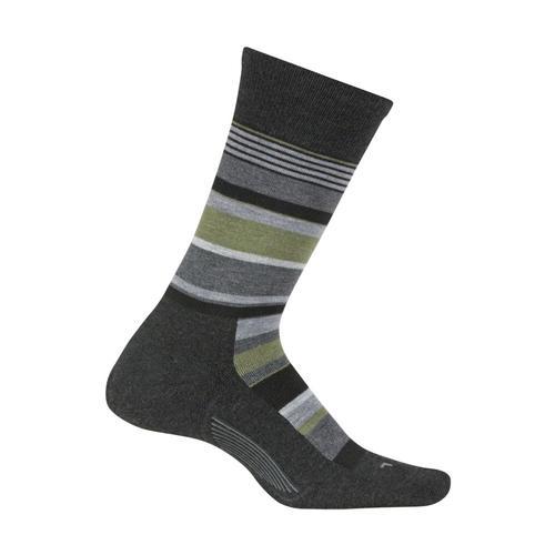 Feetures Men's Be Bold Cushion Crew Socks Charcoal