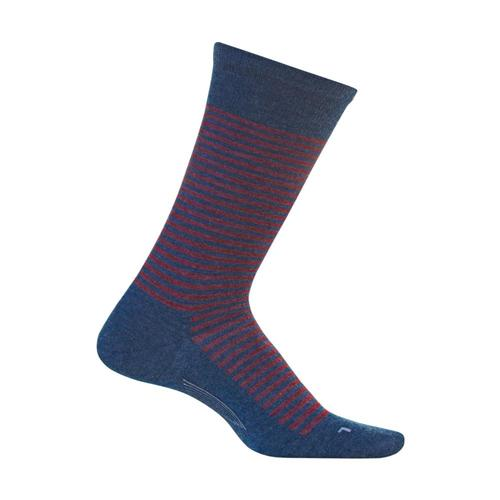 Feetures Men's Uptown Ultra Light Cushion Crew Socks Denim