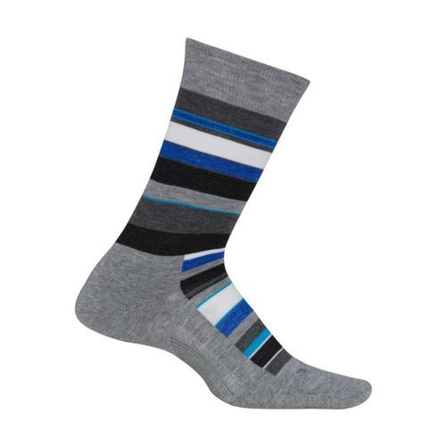 Feetures Men's Uptown Cushion Crew Socks Lightgray