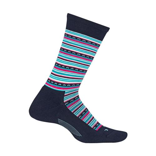 Feetures Women's Horizon Cushion Crew Socks Navy