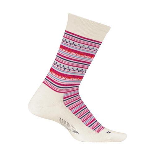 Feetures Women's Santa Fe Ultra Light Cushion Crew Socks Natural