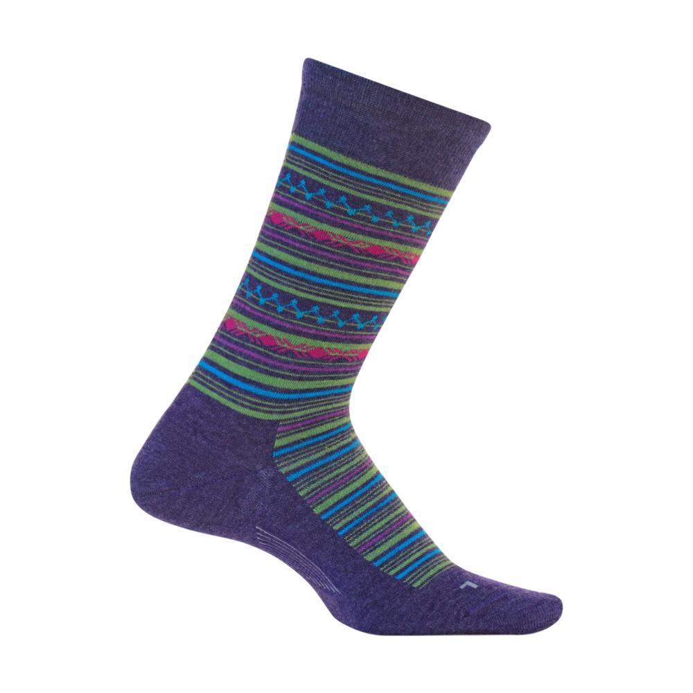 Feetures Women's Santa Fe Ultra Light Cushion Crew Socks MYSTICPURPL