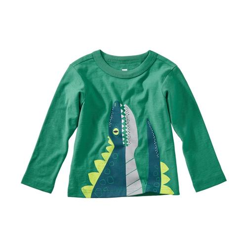 Tea Collection Infant Boys Dino Graphic Tee Spinach