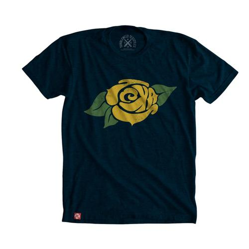Tumbleweed TexStyles Unisex Yellow Rose of Texas T-Shirt Navy