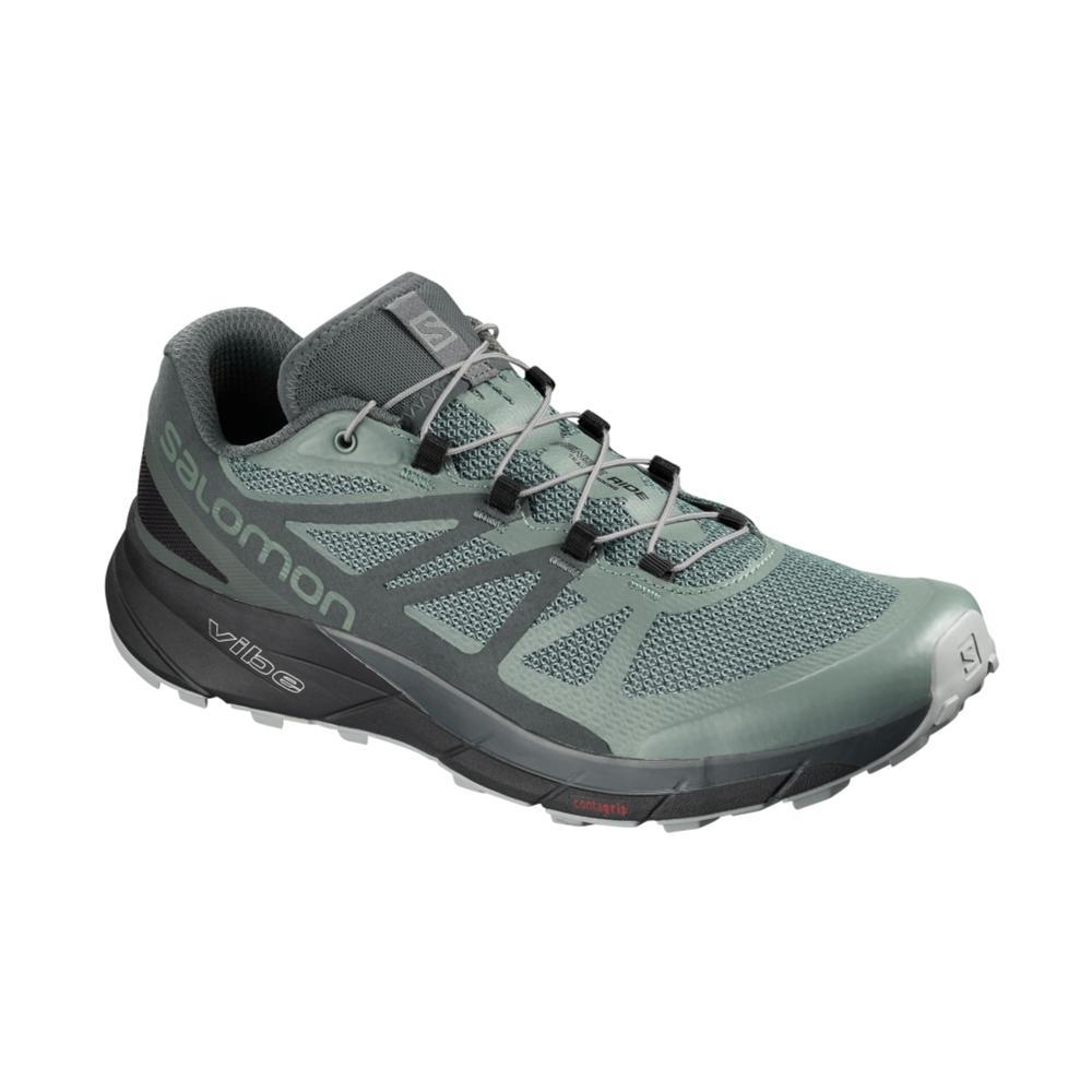 Salomon Men's SENSE RIDE GTX INVISIBLE FIT Trail Running Shoes BLSMGRN