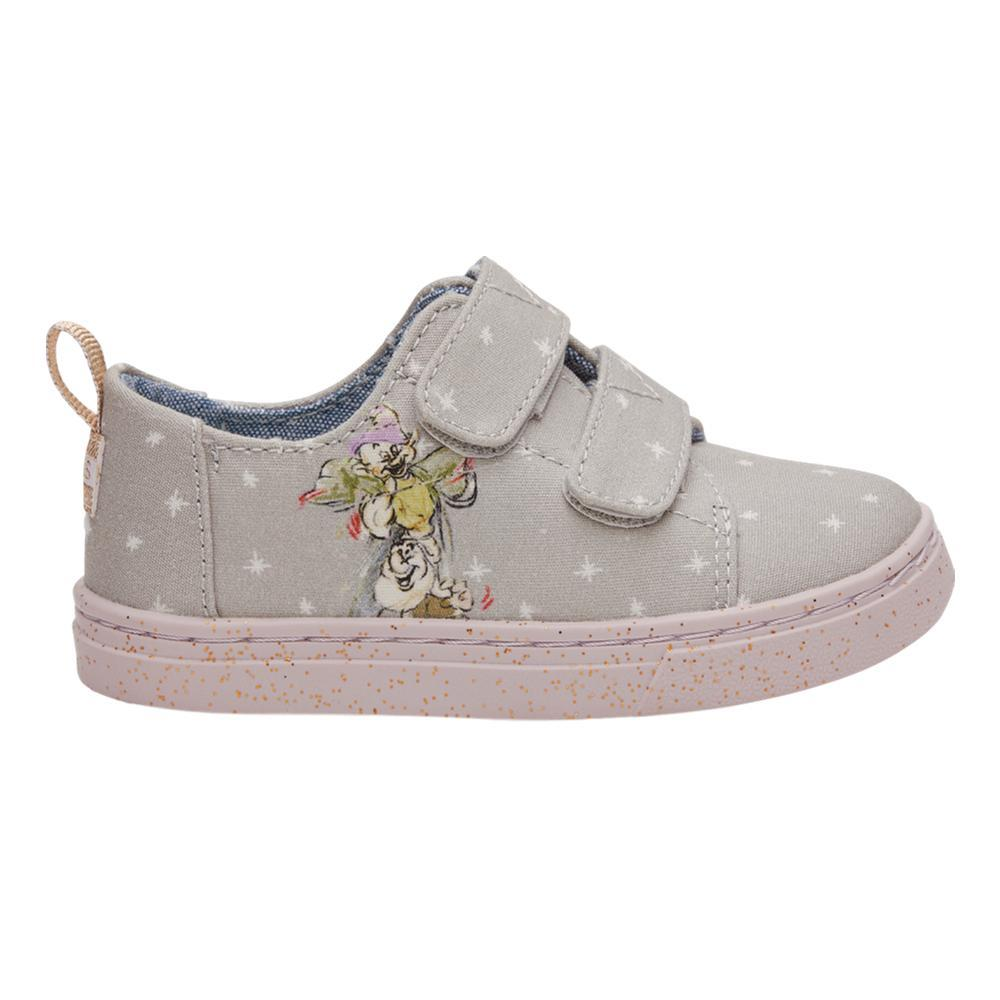 TOMS Kids Disney X Seven Dwarfs Printed Canvas Tiny Lenny Sneakers GREY