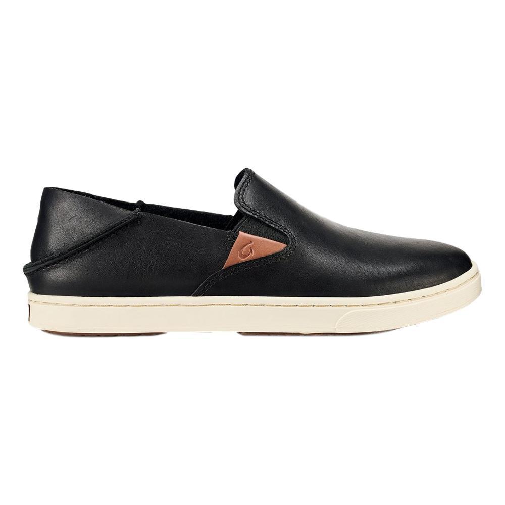OluKai Women's Pehuea Leather Shoes BLACK_4040