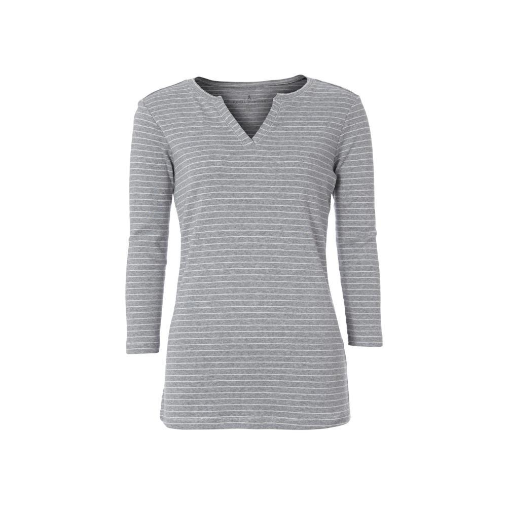 Royal Robbins Women's Kickback Split Henley Shirt LTPEWTER
