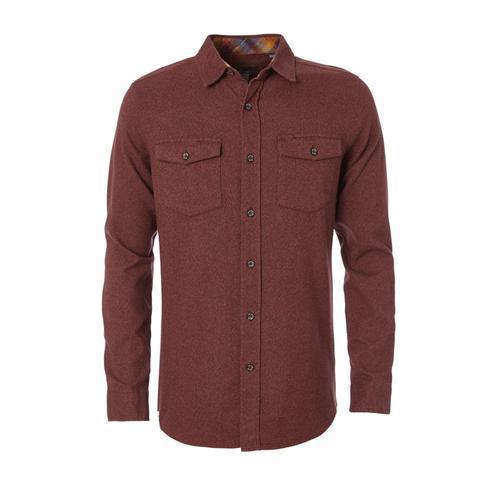 Royal Robbins Men's Bristol Twill Long Sleeve Shirt Fudge