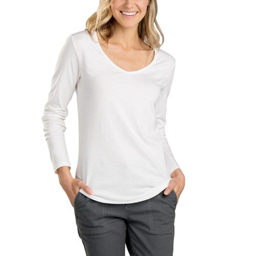 Toad&Co Women's Marley Long Sleeve Tee White_000