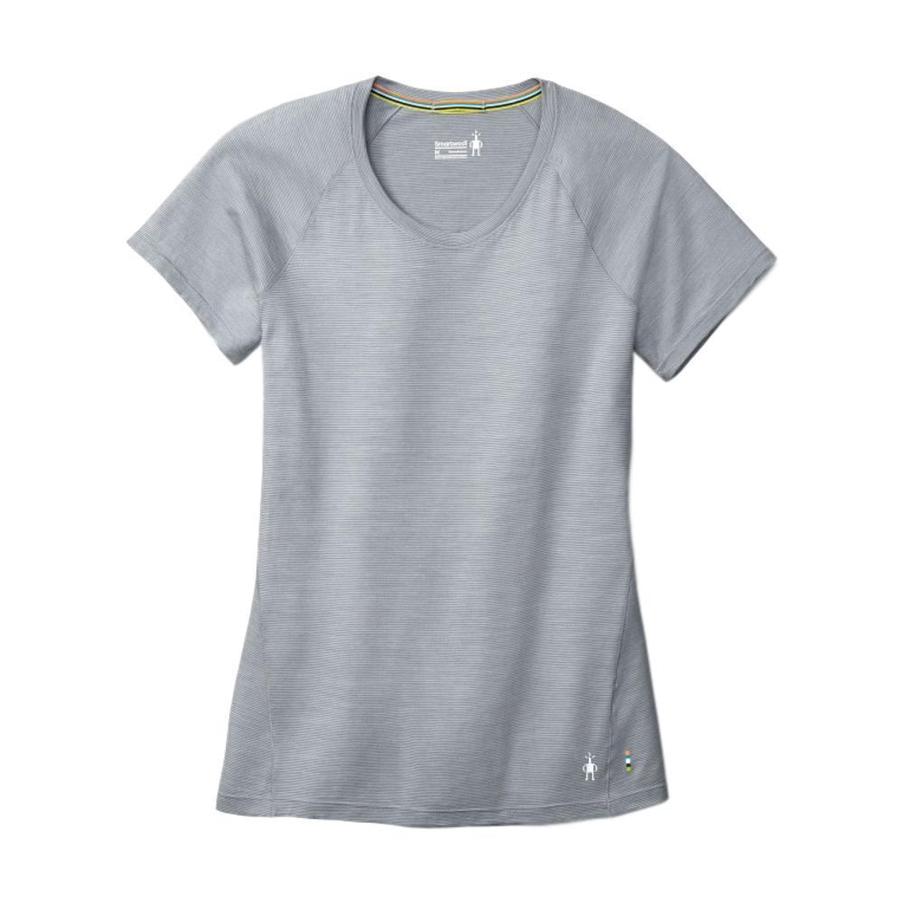 Smartwool Women's Merino 150 Base Layer Micro Stripe Short Sleeve Shirt PEBBLG_948
