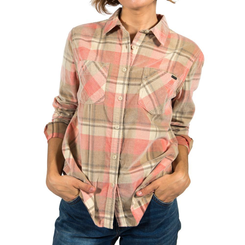 Gramicci Women ' S Knock On My Door Cord Plaid Shirt