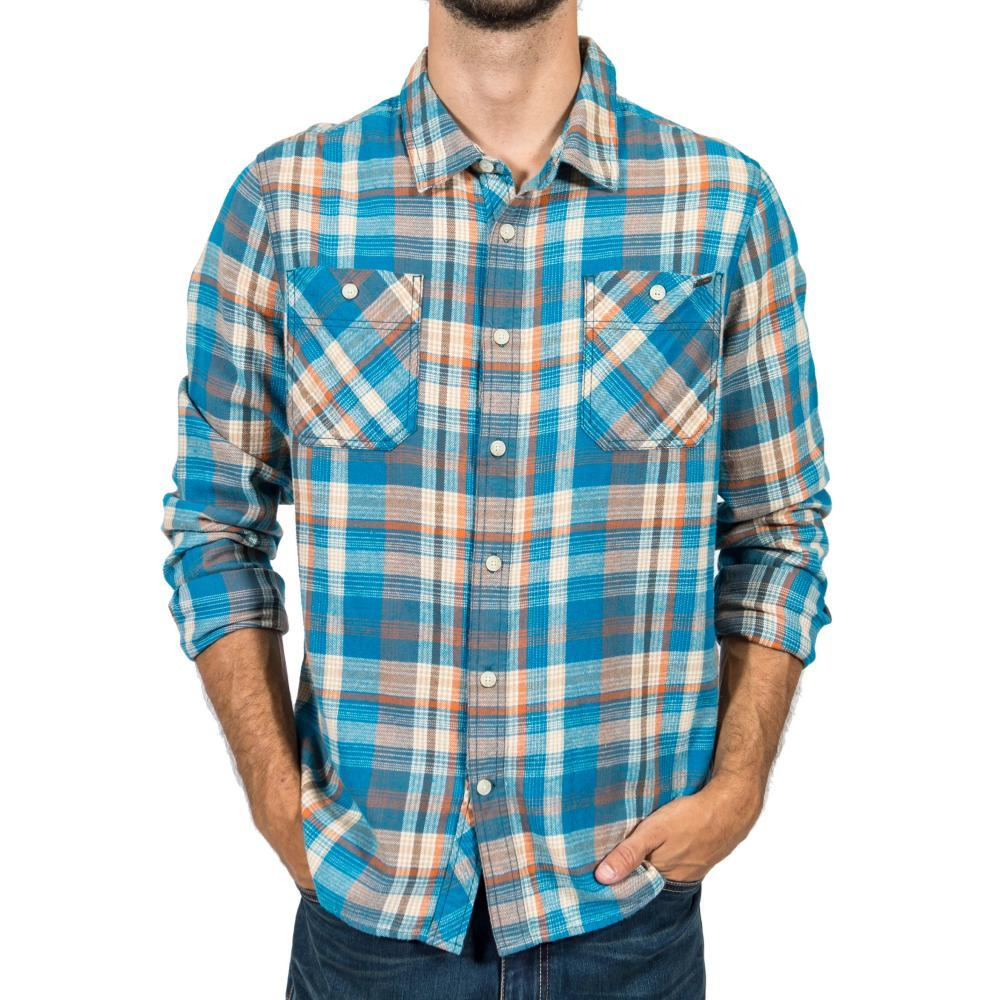 Gramicci Men's General Purpose Flannel Plaid Shirt CELESTIAL