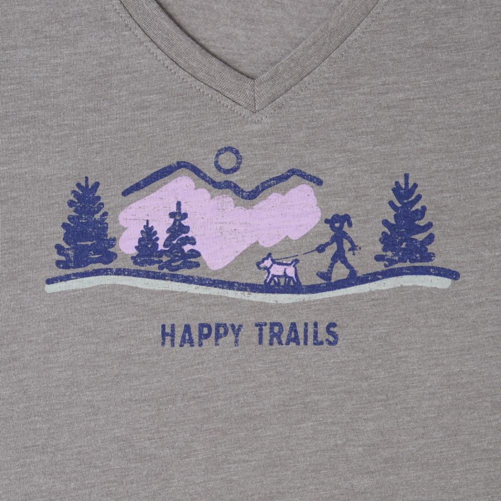 Life is Good Women's Happy Trails Vista Cool Vee SLATEGRAY