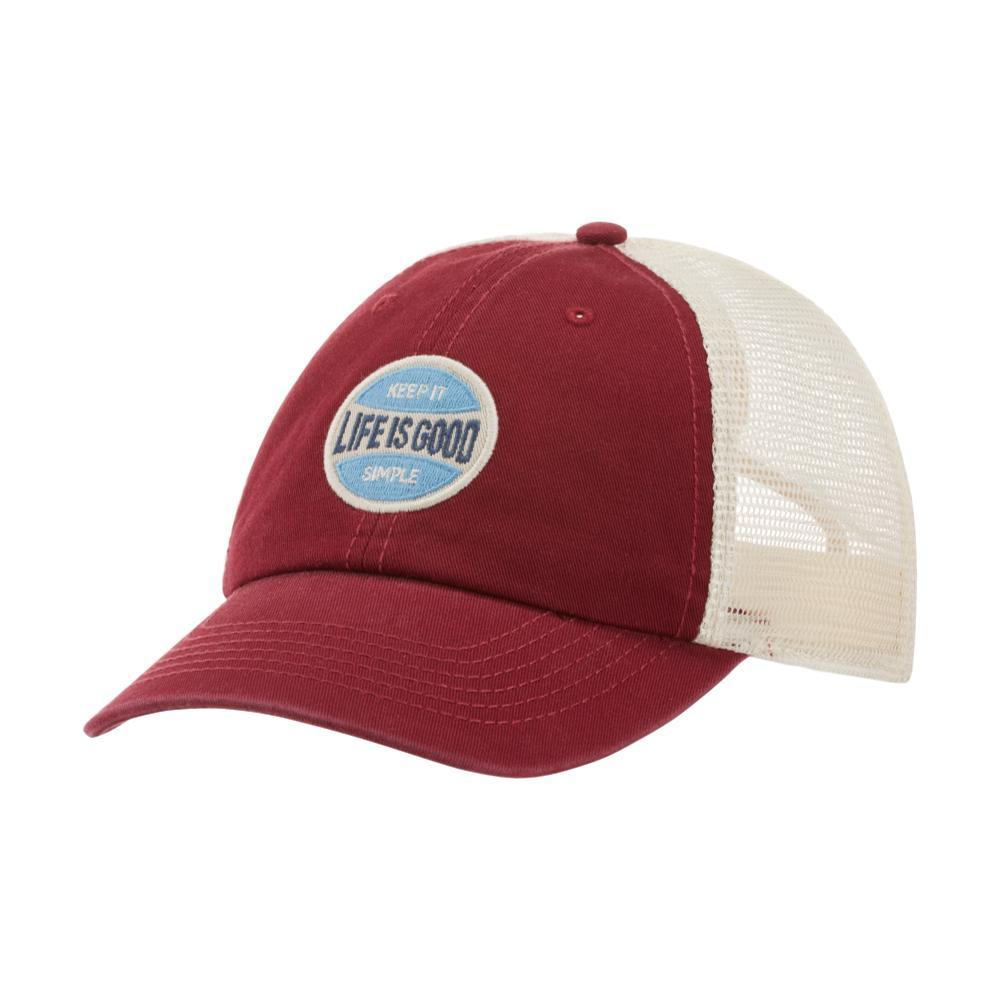Life is Good LIG Simple Coin Patch Soft Mesh Back Chill Cap WILDCHERRY