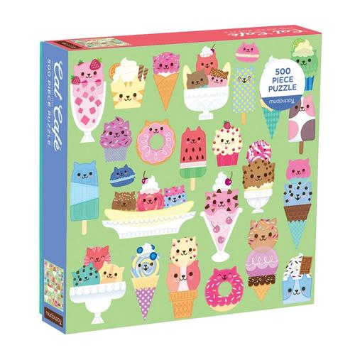 Chronicle Books Cat Cafe 500-Piece Puzzle .