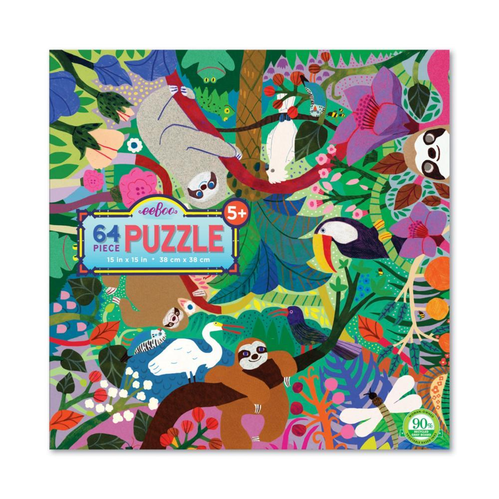 Eeboo Sloths At Play 64- Piece Jigsaw Puzzle
