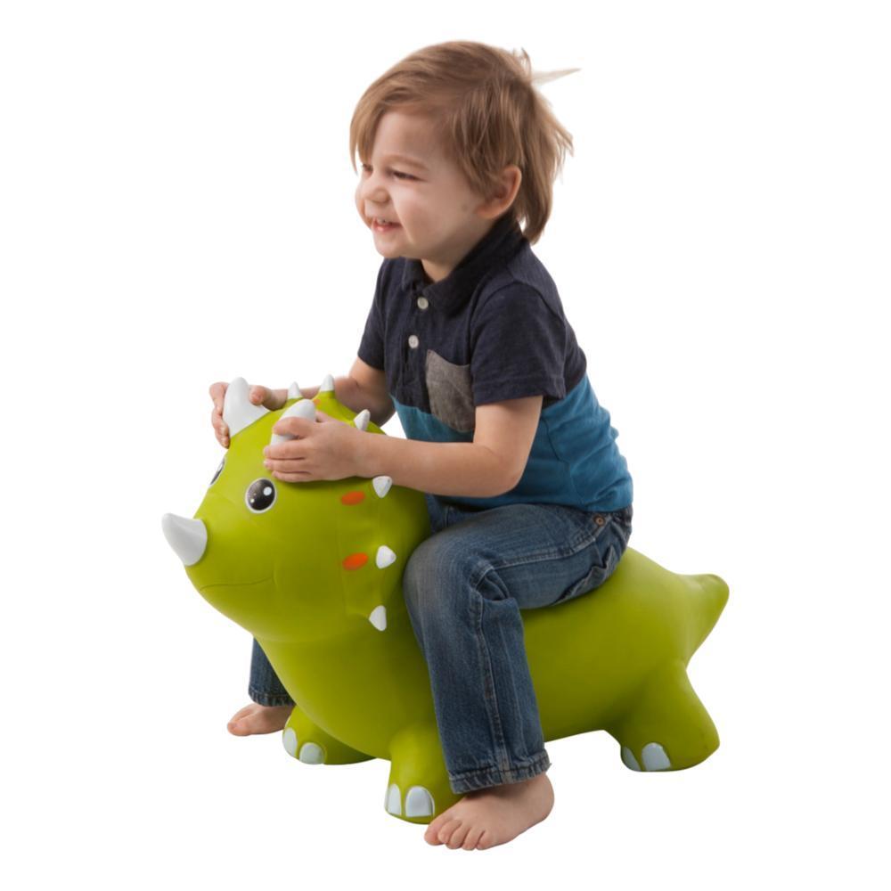 Hearthsong Animal Jump- Along - Green Triceratops