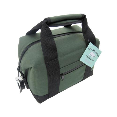 Polar Bear 6-Pack Nylon Soft Cooler Green