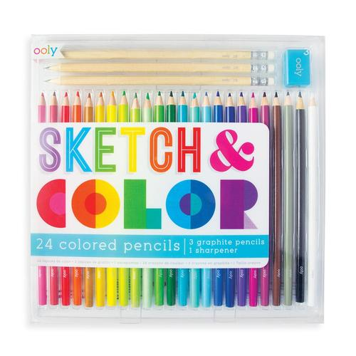Ooly Sketch and Color Colored Pencil Set - 28pc