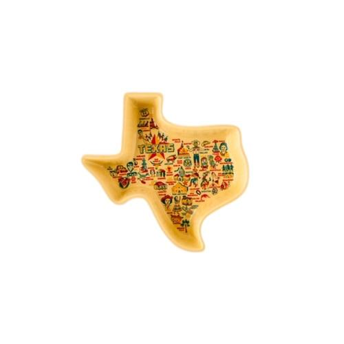 One Hundred 80 Degrees State of Texas Dish Yellow