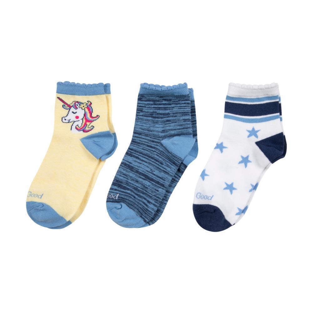 Life Is Good Girls Unicorn Quarter Socks- 3- Pack