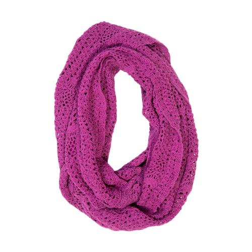 Matr Boomie Lucia Crochet Infinity Scarf - Berry Berry