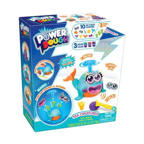 Power Dough Medium-Sea Creatures And Pets Kit