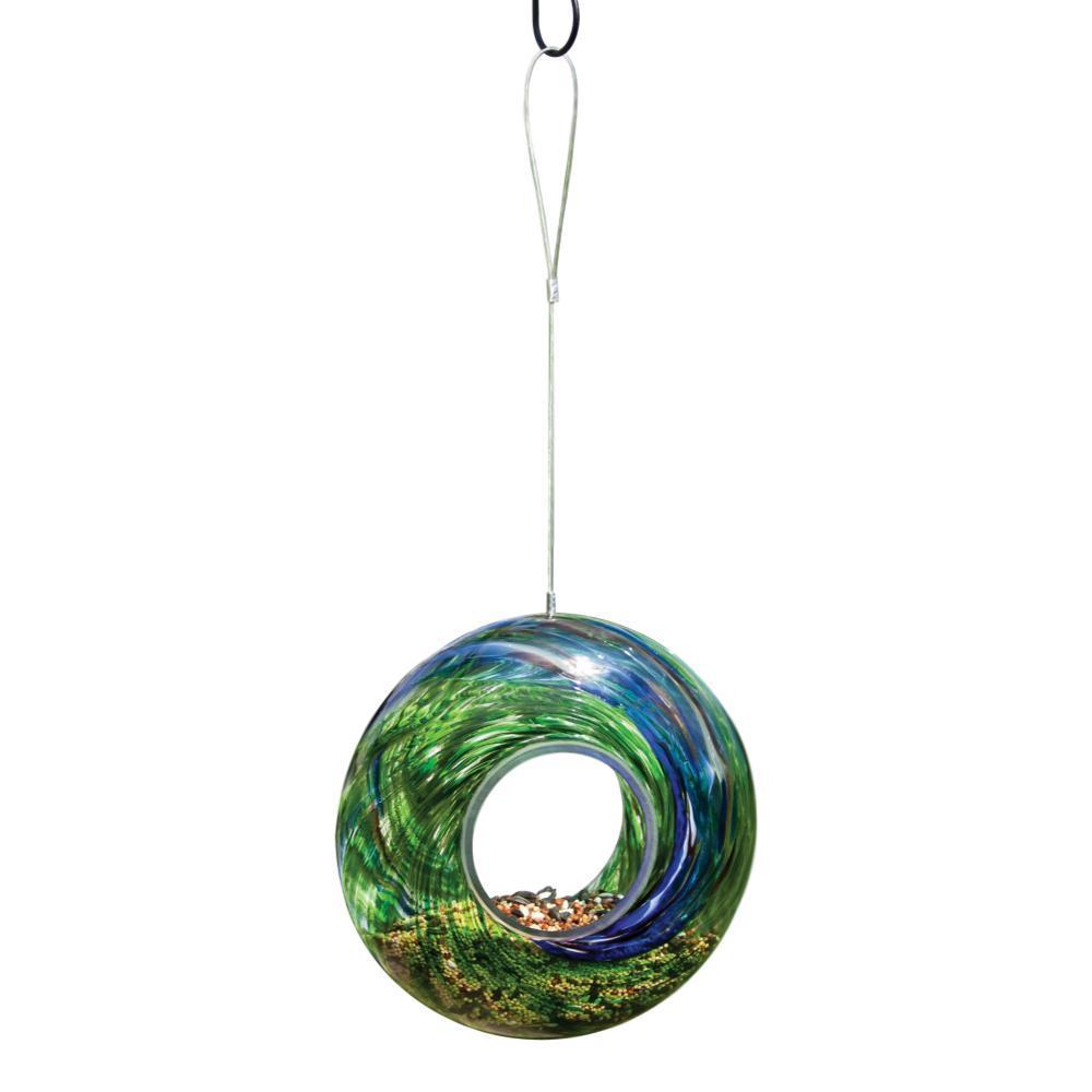 Evergreen Garden Glass Circle Feeder