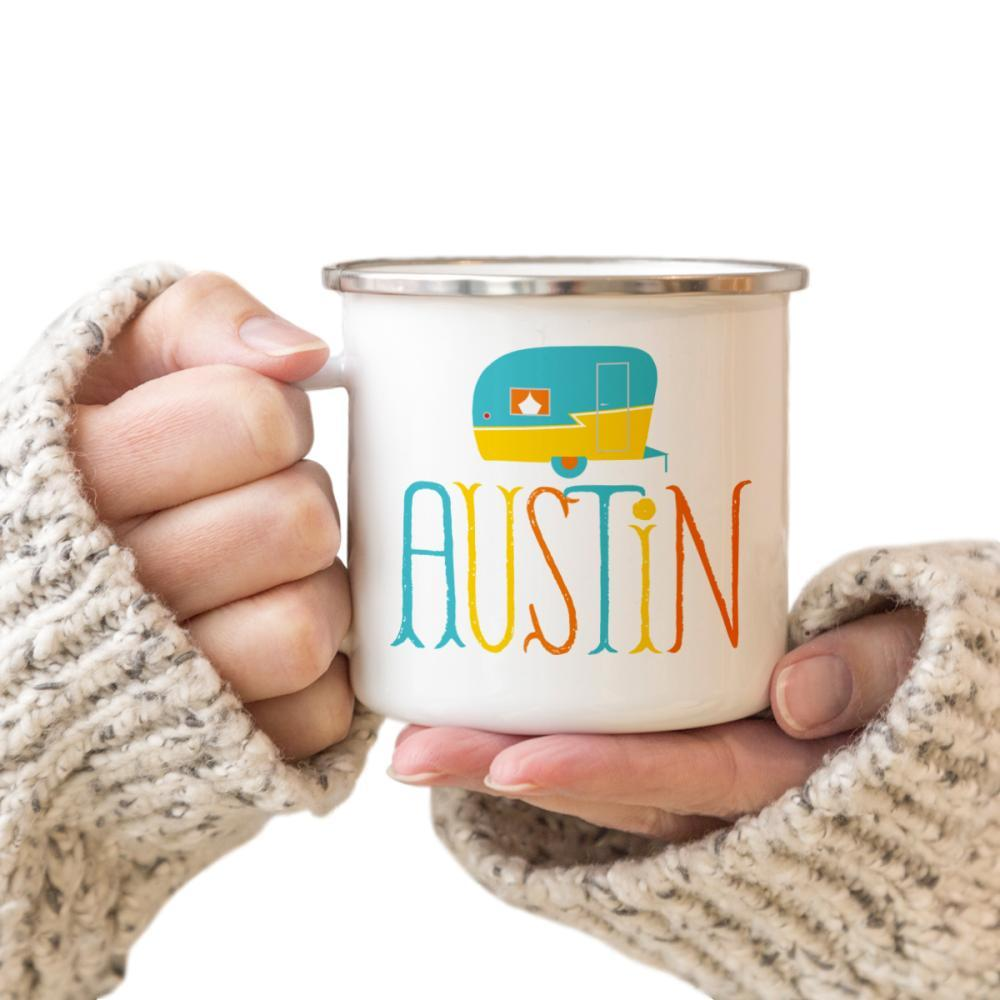 Rock Scissor Paper Travel Trailer Camp Cup AUSTIN