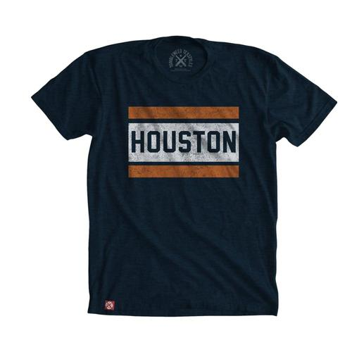 Tumbleweed TexStyles Unisex Block Houston T-Shirt - XXL Midnight